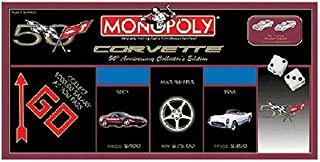 USAOPOLY Corvette 50th Anniversary Collector's Edition Monopoly Board Game