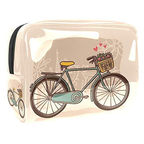 Trousse de toilette multifonction pour femme - Motif vélo vintage
