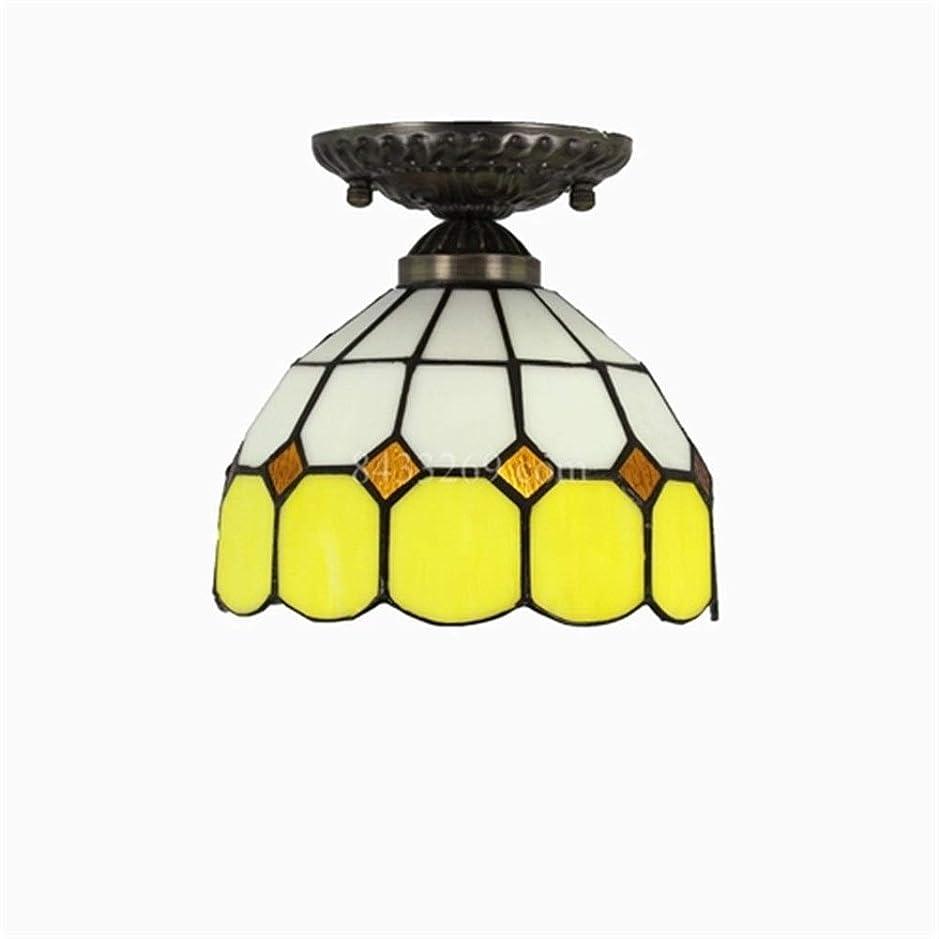 無礼に以前は昆虫を見る手作りの天井ランプ、廊下の下の家の装飾の中庭の照明のための8インチのガラスステンドグラスの天井灯