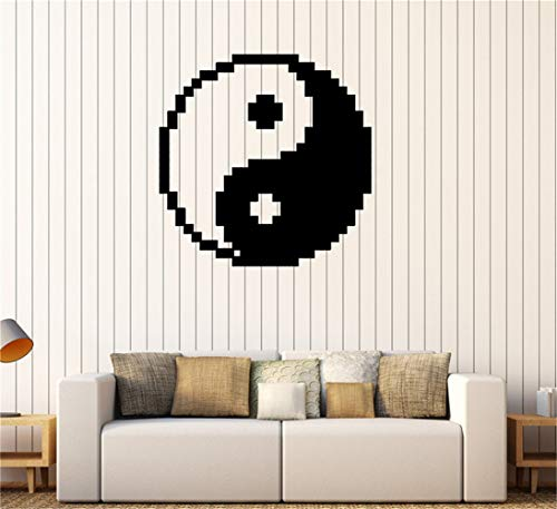 stickers muraux Yin Yang Zen Pixel Tao Asiatique Oriental