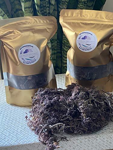 Raw Purple Sea Moss (5oz) Makes Over 92oz Gel Jamaica Irish Seamoss Wild Harvested Vegan Non-GMO Sundried Seaweed