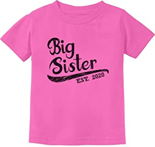 Girls Big Sister Est 2020 Sibling Gifts Infant Kids T-Shirt