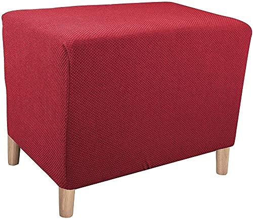 YUNZHONG Funda elástica de jacquard, plegable, plegable, plegable, protector de muebles, lavable a máquina, para sala de estar, dormitorio, color rojo vino