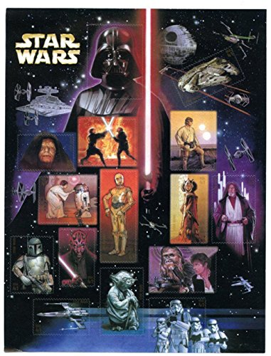 Star Wars 30th Anniversary, Full Sheet of 15 x 41-Cent Postage Stamps, USA 2007, Scott 4143