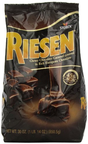 RIESEN Chewy Dark Chocolate Caramel Candy, 30 Ounce Bags (Pack of 3), Individually Wrapped Candy, Bulk Candy, Chocolate Candy, Bag of Candy, Sweets for Home, Road Trips or Parties, Great Gift Idea