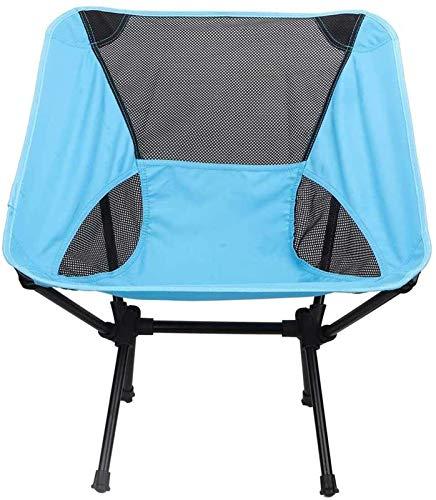 XINGDONG Lahomie - Silla de camping portátil, resistente, plegable, ligera, plegable, para playa, portátil, con bolsa de transporte, soporte de hasta 100 kg, color azul