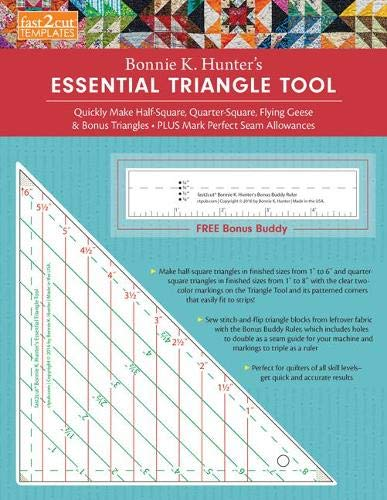 fast2cut (R) Bonnie K. Hunter\'s Essential Triangle Tool: Quickly Make Half-Square, Quarter-Square, Flying Geese & Bonus Triangles (Fast2cut Templates)