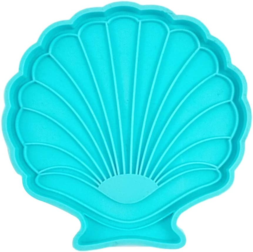 Oklahoma City Mall WENWING Epoxy Resin Seattle Mall Mold Shell Shape Mat Pad Coaster Cup Si