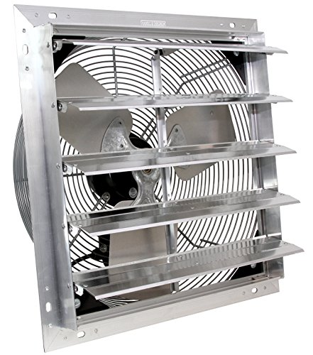 VES 24' Exhaust Shutter Fan, Wall Mount, 3 Speed