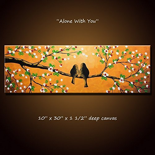 Lovebirds Painting Original Art