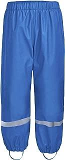 Hiheart Boys Girls Waterproof Rain Pants Fleece Lined Rainwear