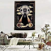タペストリー 天体タペストリーヒッピーウォールカーペット寮の装飾サイケデリックタペストリーハンギング白黒日月マンダラウォール (Color : Color 2, Size : 150x130cm)