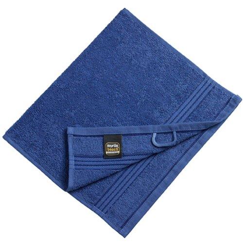 Myrtle Beach - lot 3 serviettes de toilette invité - bleu royal - 30 x 50 cm - MB420