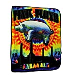 Ramatex Polyester Throw Blankets Pink Floyd Pig Tie Dye Animals Coral Fleece Throw Blanket 60 X 0.25 X 50 Inches Multicolored