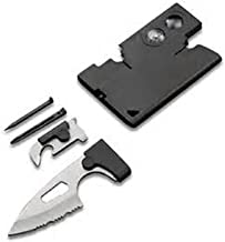 Multi-Purpose Credit Card Tool 10 in 1 - Best Quality Pocket Tool - Durable Credit Card Companion - Perfect Tactical Credit Card Size Ultimate Survival Tool Set - Serves as Emergency Survival Tool-1Pk