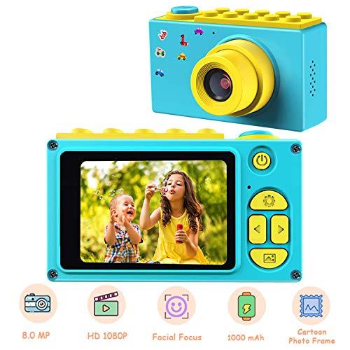 TOYSBBS camera kinderen, digitale camera kinderen, waterdicht / 8MP / HD 1080p / 2 inch beeldscherm/foto & video/frame/filter, kinderen fototoestel met geheugenkaart, cadeaus voor kinderen