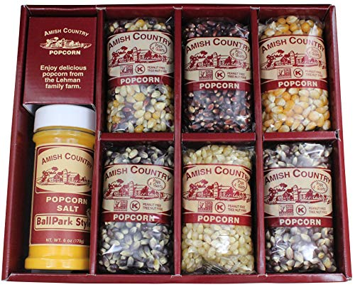 Amish Country Popcorn   Popcorn Kernel Variety Set with ButterSalt   6 - 4 oz Bags   Old Fashioned with Recipe Guide