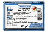 Weicon 10500100 Resina Epoxi, 100g, Masilla de reparación Universal amasable, en Paquete Completo, Verde, 100 g