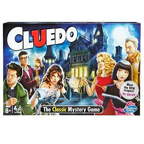 Juego de mesa inglés Cluedo,Classic Cluedo Game,juego de razonamiento y rompecabezas para 2-6 personas, Apto para niños mayores de 8 años y juegos para adultos,Agrega diversión a tu fiesta (CLUE DO)