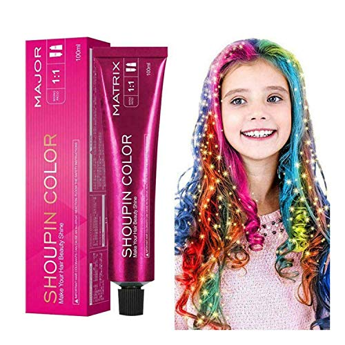 Mermaid Hair Coloring Shampoo Mild Safe Hair Dyeing Shampoo For All Hairs,Long Lasting Without Using...
