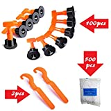 YIYATOO 100pcs Tile Leveler Spacers and 500PCS 2mm Tile Spacer,Tile Leveling...