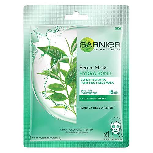 Garnier Skin Naturals - Mascarilla de serum de te verde, 32 g