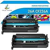 True Image Compatible Toner Cartridge Replacement for HP 26A CF226A 26X CF226X Laserjet Pro M402n M402dn M426 M402d M402dw Laser Jet MFP M426fdw M426fdn M402 M426dw Printer Ink (Black, 2-Pack)