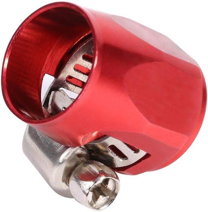 finisseur dextr/émit/é de Tuyau en Aluminium avec Bande /à vis pour Voiture Automatique Yosoo Health Gear Collier de Serrage AN6 1 Paquet Bleu