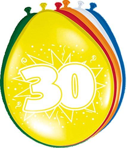 8 Ballons * 30 ans * pour anniversaire ou jubliläum//Balloons Party Multicolore dreissig
