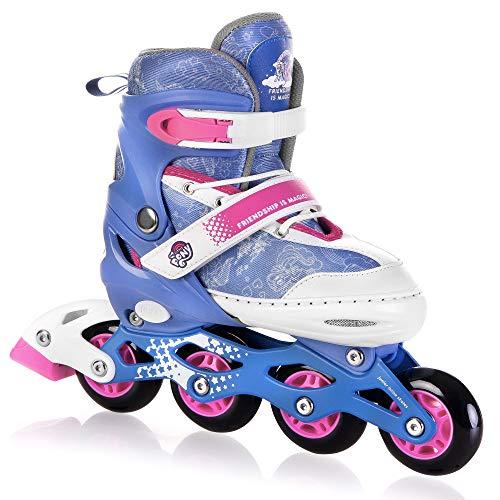 SPOKEY My Little Pony Candy Inline Skates für Kinder bis max. Gewicht 60 kg  Größenverstellbar, Alu-Schienen, Kugellager ABEC-7 Carbon, PU Rolle 82 A