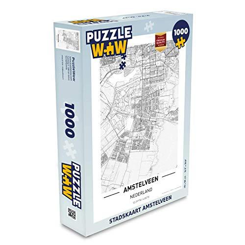 Puzzel 1000 stukjes volwassenen Top 50 Nederland staande1000 stukjes - Stadskaart Amstelveen - PuzzleWow heeft +100000 puzzels - legpuzzel voor volwassenen - Jigsaw puzzel 68x48 cm