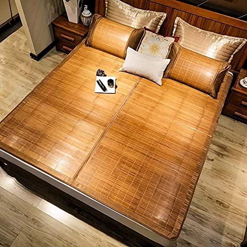 Cubierta de colchón de enfriamiento de Verano Tapa de la Almohadilla de bambú con Funda de Almohada Mats para Dormir Mats Transpirable Anti Allergy Protector Decoración del hogar Regalos-C_120x190cm