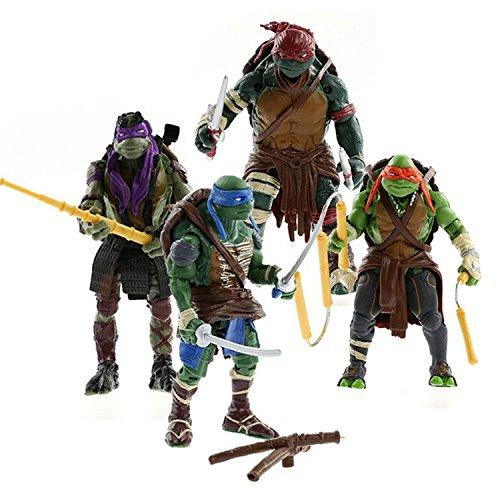 Las Tortugas Ninja Set de los 4 Personajes Figuras Articuladas + Accesorios 4310