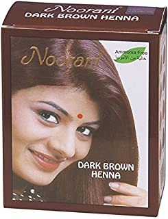 Noorani Henna Based Hair Color and Herbal Powder in USA | Ships from California (1 ( 6 Pouch x 10g ), DARK BROWN HENNA)