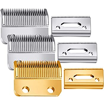 3 Sets Hair Clipper Replacement Blades Adjustable Clipper Blades 2 Hole  1mm - 3mm  Hair Trimmer Replacement Blades Compatible with Wahl 1006 Super Taper #8400  Gold and Silver