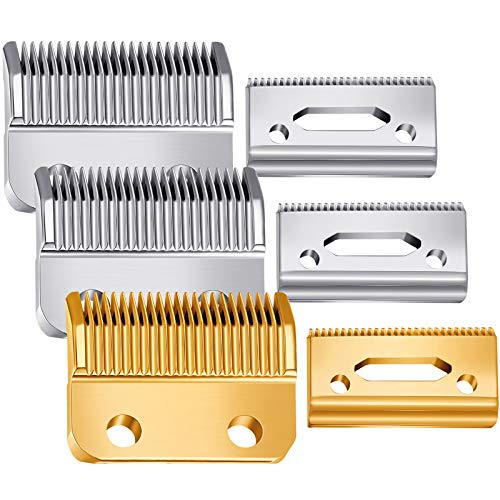 3 Sets Hair Clipper Replacement Blades Adjustable Clipper Blades 2 Hole (1mm - 3mm) Hair Trimmer Replacement Blades Compatible with Wahl 1006, Super Taper #8400 (Gold and Silver)