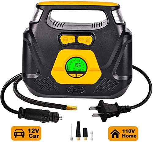 GSPSCN AC DC Digital Tire Inflator Portable Air Compressor Pump with Auto Shut Off Digital Gauge product image