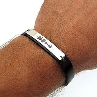 sound wave engraved bracelet