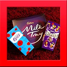 Valentines Day Cadbury Trio of Treats Chocolates - Roses, Milk Tray & Heroes - Perfect for Valentine's Day Gift, Present British Chocolate By Moreton Gifts