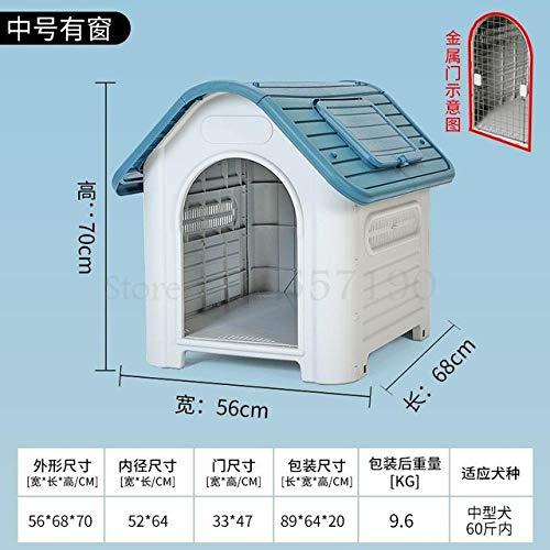Kennel LKU Hondenhok winter gesloten type warme hondenkennel grote hondenhok buiten regendichte kennelhond, 70x56x68