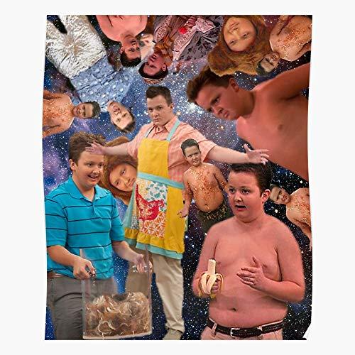Cansporter Josh Gibson Drake and Nickelodeon Gibby Icarly Nick Geschenk für Wohnkultur Wandkunst drucken Poster 11.7 x 16.5 inch