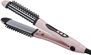 Plancha de pelo de varios Stylers, Fer à lisser uso doble cheveux Raides peigne deux-en-un CHEVEUX multi-fonction redressage contreplaqué cheveux Curling Rod-polvo Rizador de pelo (Color : Powder)