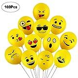Yizhet Emoji Balloons Luftballons Verschiedene Miene Laune Ballons Smiley Gesicht Ballons...