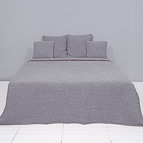 Clayre & Eef Q181.061G Bedsprei/Beddeken stonewashed Natuur 230 * 260