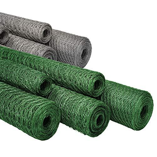 casa pura Maschendrahtzaun für Garten, Balkon und Kleintiere | Drahtzaun aus Sechseckdrahtgeflecht mit Maschenweite 25 mm | grün beschichtet | viele Größen | 50cm x 10m