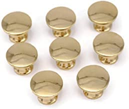 8 Small Brass Knobs Book Case Desk Jewelry and Small Boxes Knobs Solid Cast Brass 3/8