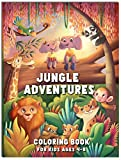 Jungle Adventures Coloring Book: For Kids Ages 4-8