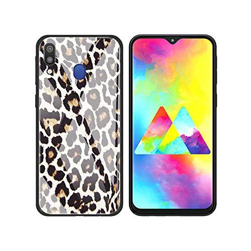 Hopereo Carcasa de cristal para Samsung Galaxy A50, A70, A51, A71, A81, A91, A10, A20, A30, A40, A01, A21S, A31, A41, diseño de leopardo, Panther-T10, para Samsung A30