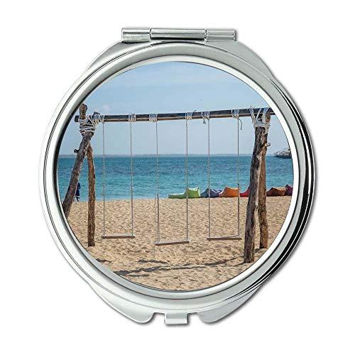 Yanteng Spiegel, Travel Mirror, Strand Liegestühle schön, Taschenspiegel, tragbarer Spiegel