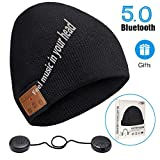Bluetooth Beanie,Stereo Knit Music Hat with Bluetooth V5.0 Wireless Hats Headphone Upgraded Unisex Knit Bluetooth Beanie suitable for Outdoor Sports ,Gift